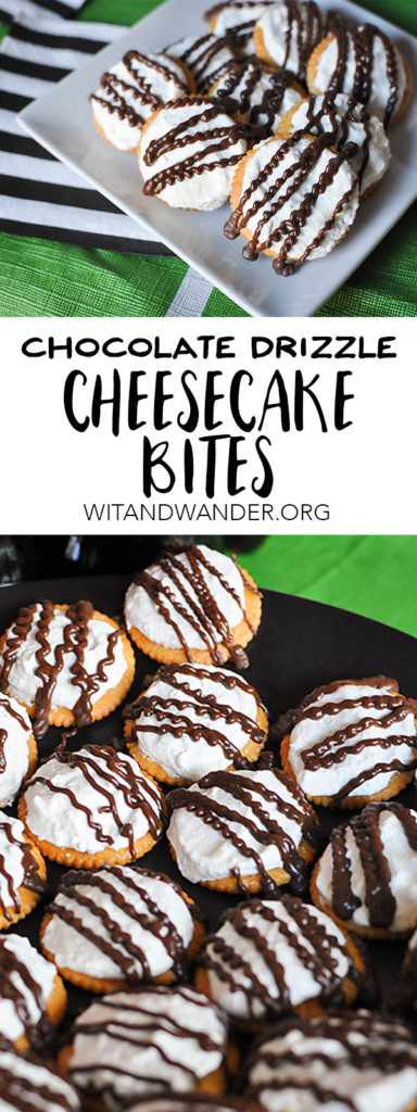 Chocolate Drizzle Cheesecake Bites | Wit & Wander