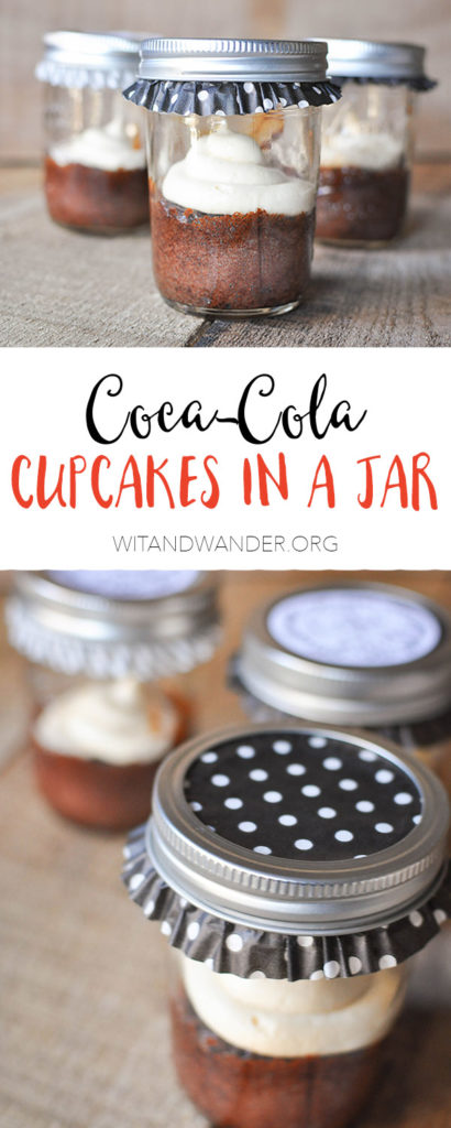Coca-Cola Cupcakes in a Jar - Wit & Wander