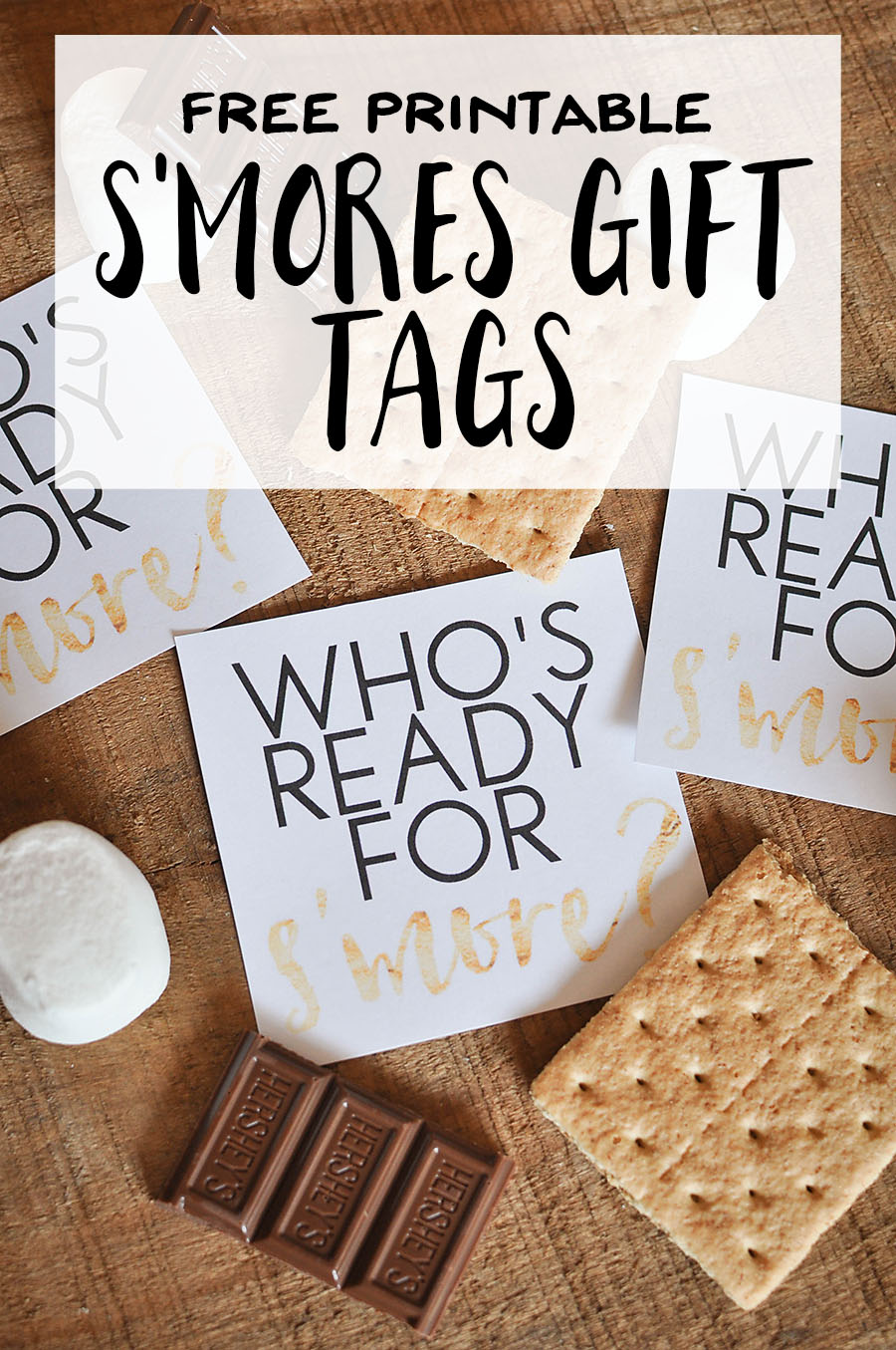 Free printable smores gift tags our handcrafted life free printable smores gift tags negle Images