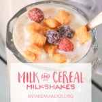 Milk and Cereal Milkshakes | Wit & Wander