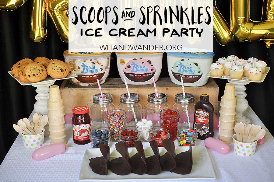 Scoops and Sprinkles Ice Cream Taco Bar Party - Wit & Wander