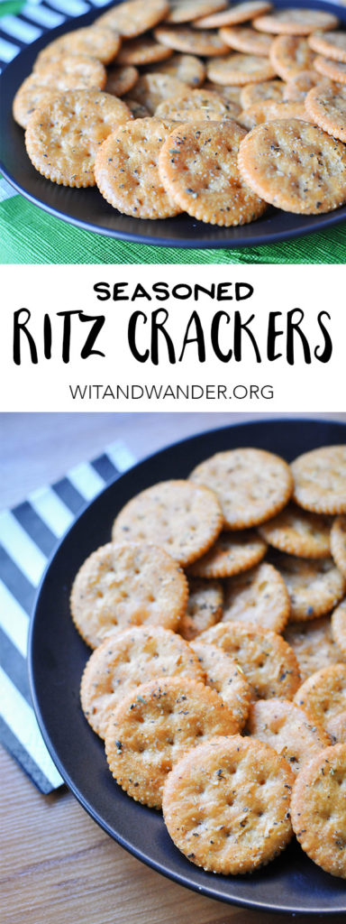 Seasoned Ritz Crackers | Wit & Wander Header
