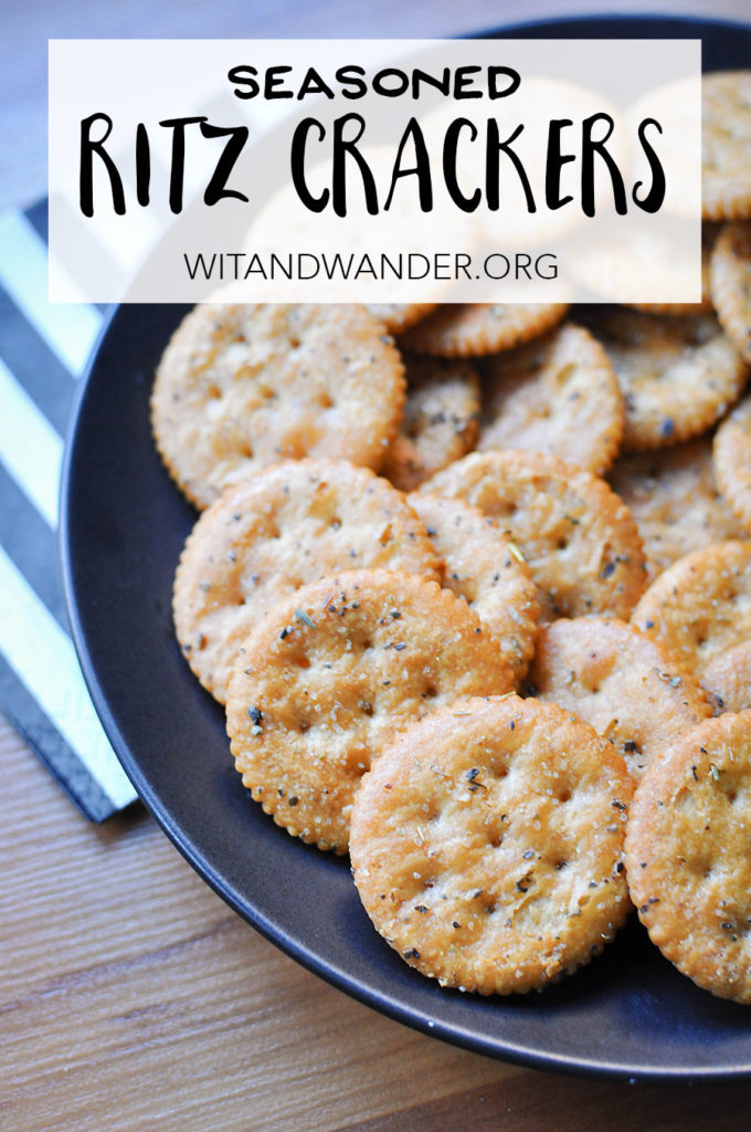 Seasoned Ritz Crackers | Wit & Wander Tall