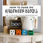 DIY Halloween Blocks