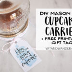 DIY Mason Jar Cupcake Carrier – Cupcake Party Favors