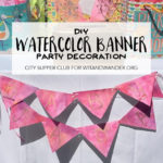 DIY Watercolor Bunting Banner