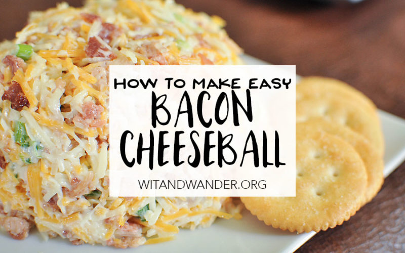 Cheesy Bacon Dip - Wit & Wander