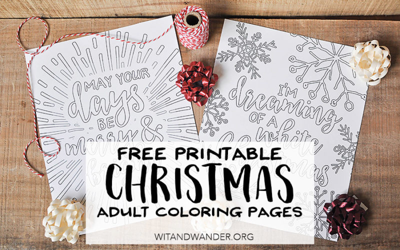 Free Printable White Christmas Adult Coloring Pages