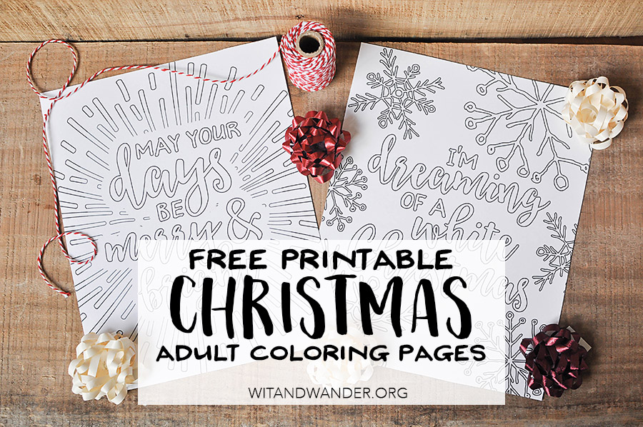 Free Printable White Christmas Adult Coloring Pages Our