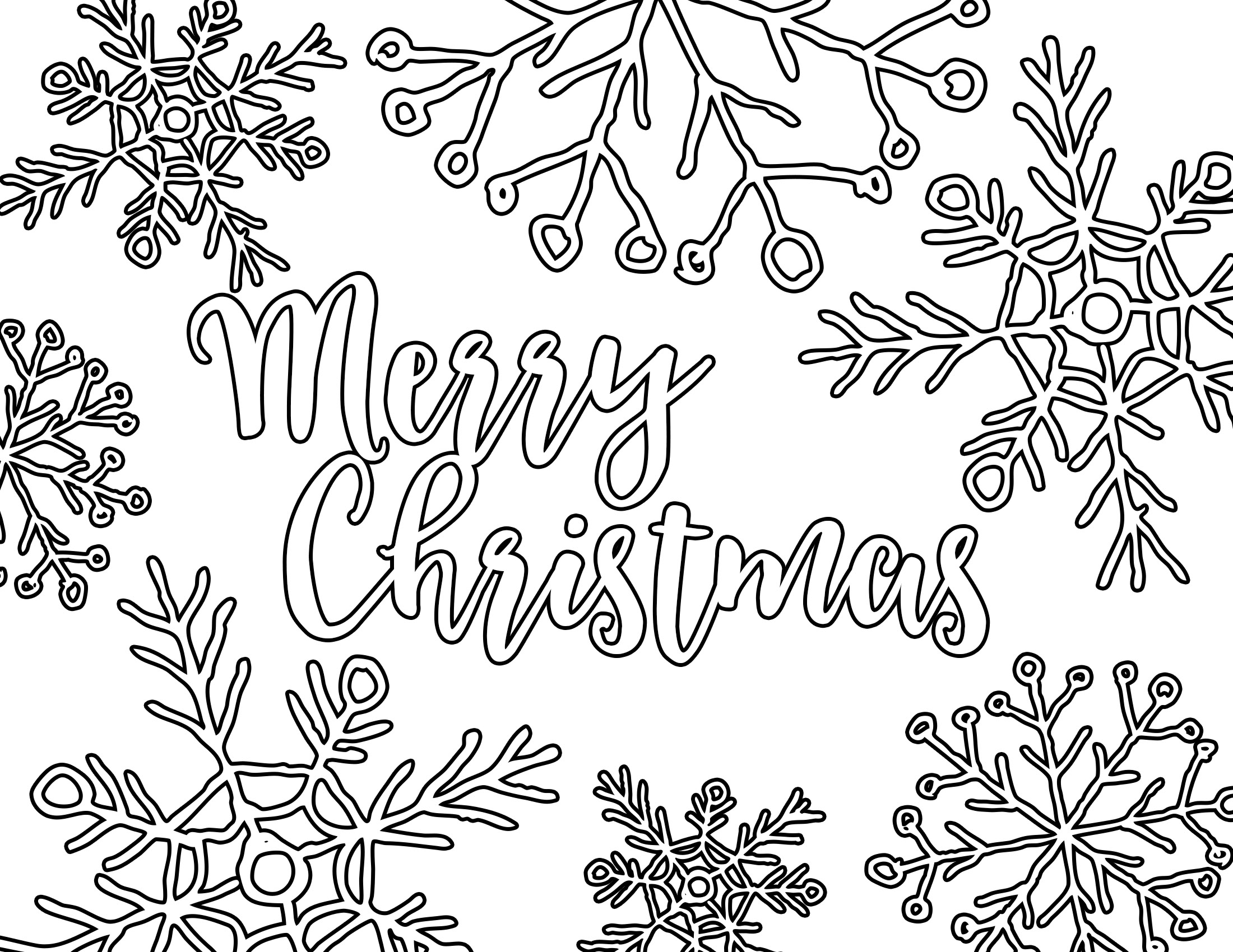 Free Printable Adult Coloring Page - Christmas Placemat - Our ...