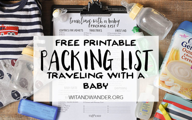 Packing List for Traveling with a Baby