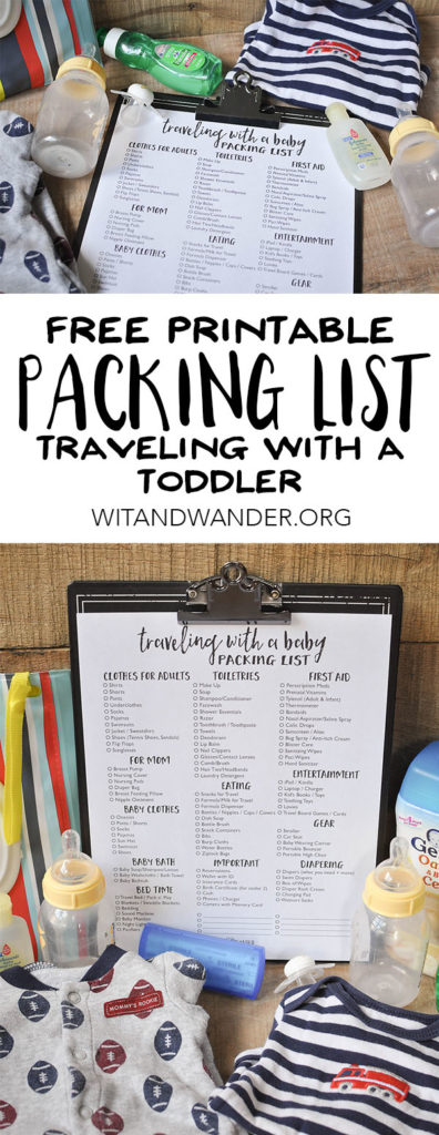 Free Printable Packing List for Traveling with a Baby - Wit & Wander