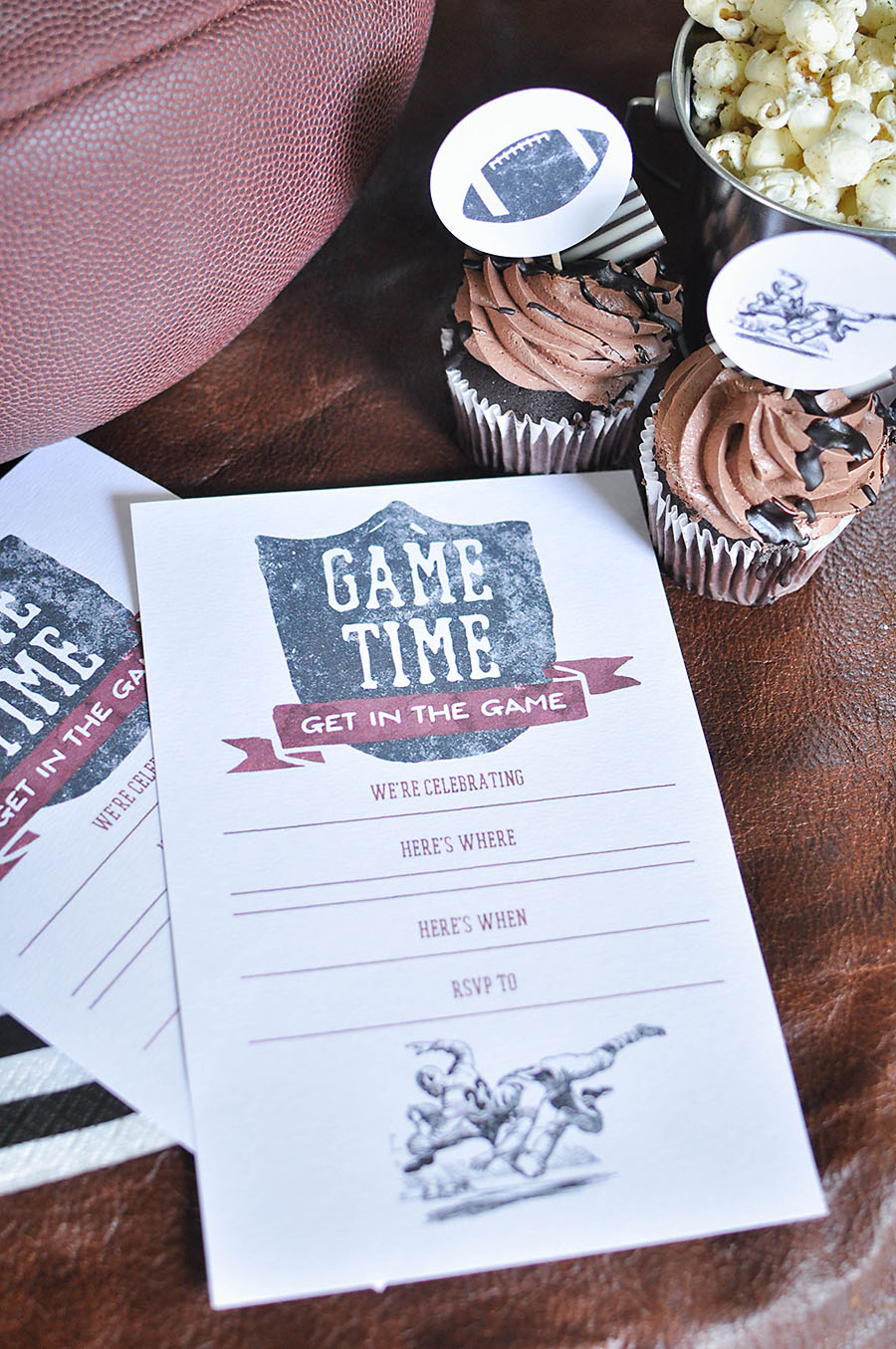 Free Printable Vintage Football Party Invitations - Wit & Wander