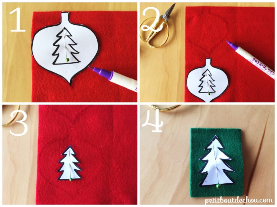 Cut your shapes in felt using pattern