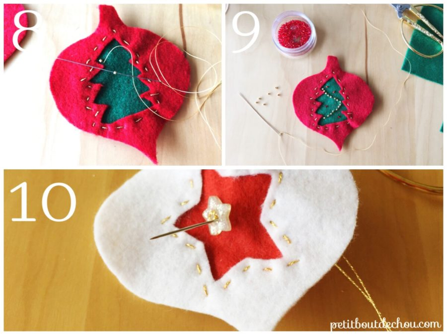 add buttons or beads to decorate
