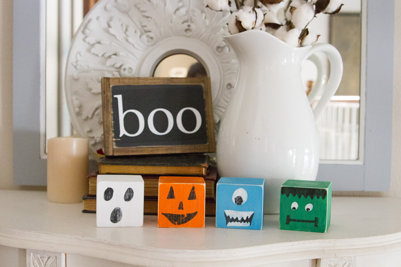 How to Make DIY Halloween Blocks - Cheyenne Bell for Wit & Wander