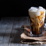 Iced coffee with homemade pumpkin spiced creamer