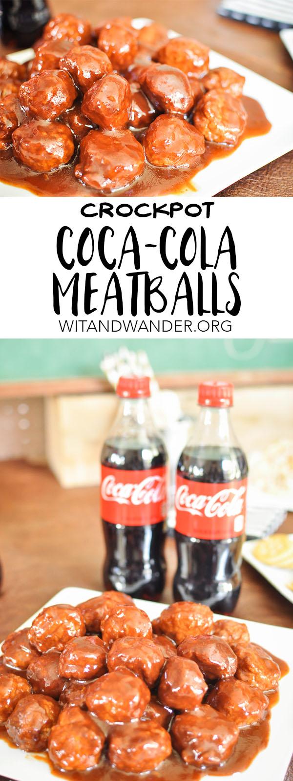 Crockpot Coca-Cola Meatballs - Wit & Wander Pinterest