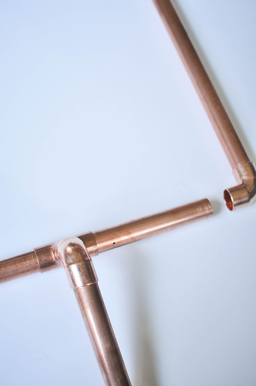 DIY Copper Pipe Mini Football Goalposts - Wit & Wander
