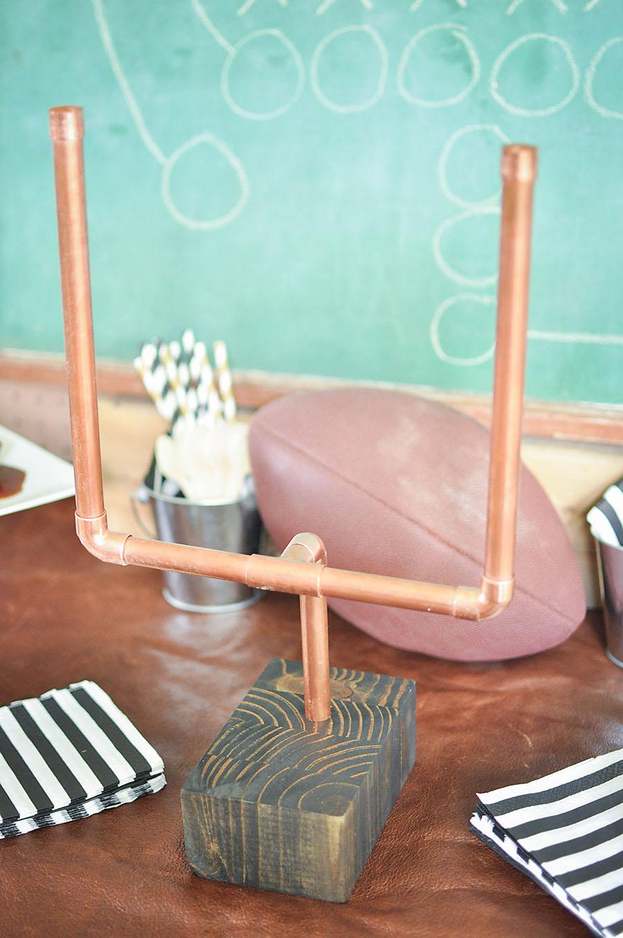 DIY Copper Pipe Mini Football Goalposts - Wit & Wander