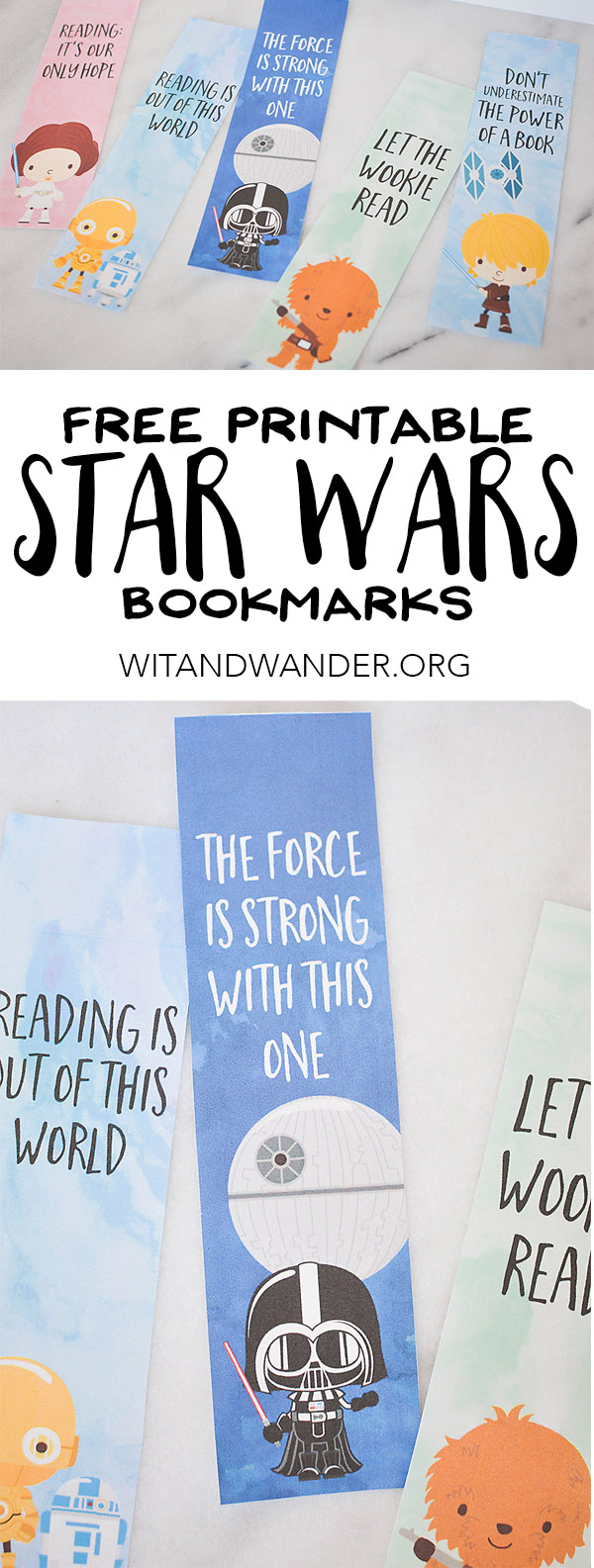 Free Printable Star Wars Bookmarks | Wit & Wander