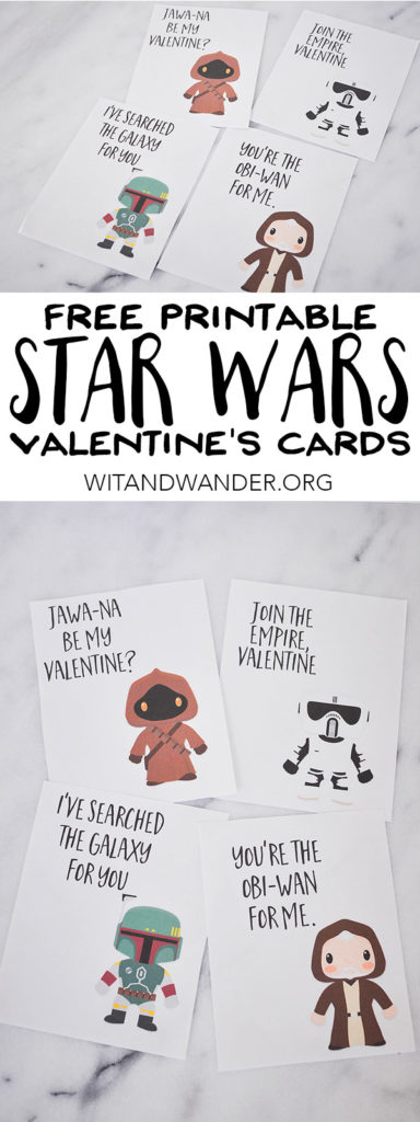 Free Printable Star Wars Valentines Day Card | Wit & Wander Part 2