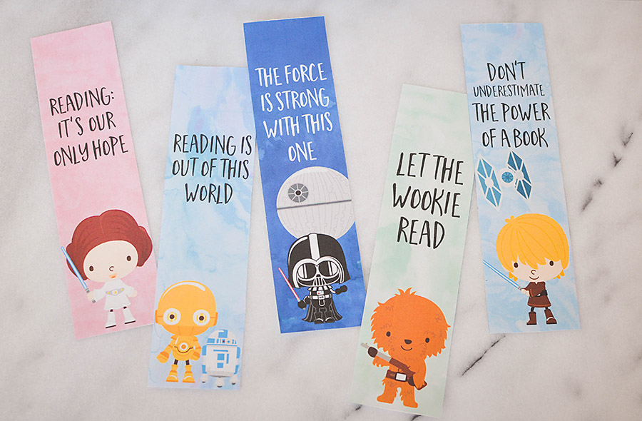 photo relating to Star Wars Bookmark Printable titled Star Wars Bookmarks - No cost Printables for Small children - Our
