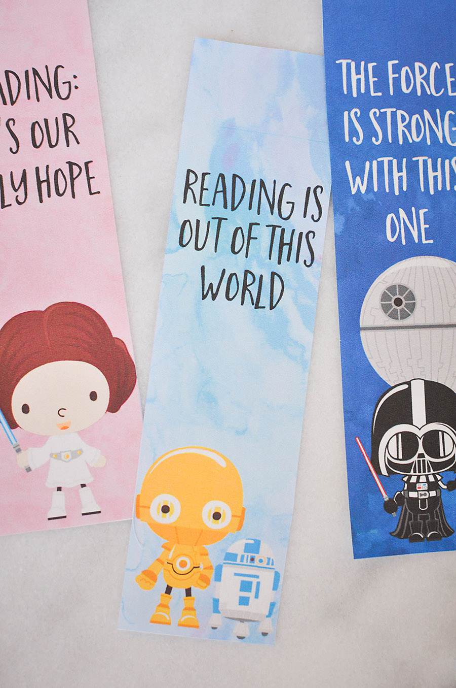 picture relating to Star Wars Bookmark Printable called Star Wars Bookmarks - Totally free Printables for Children - Our