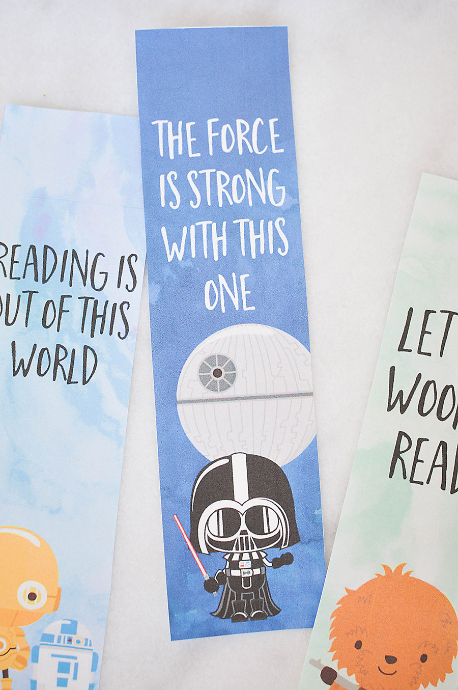 graphic regarding Star Wars Bookmark Printable titled Star Wars Bookmarks - Free of charge Printables for Youngsters - Our