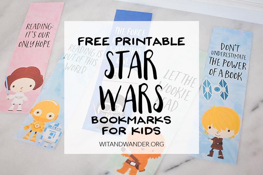 Free Printable Star Wars Bookmarks   Wit & Wander