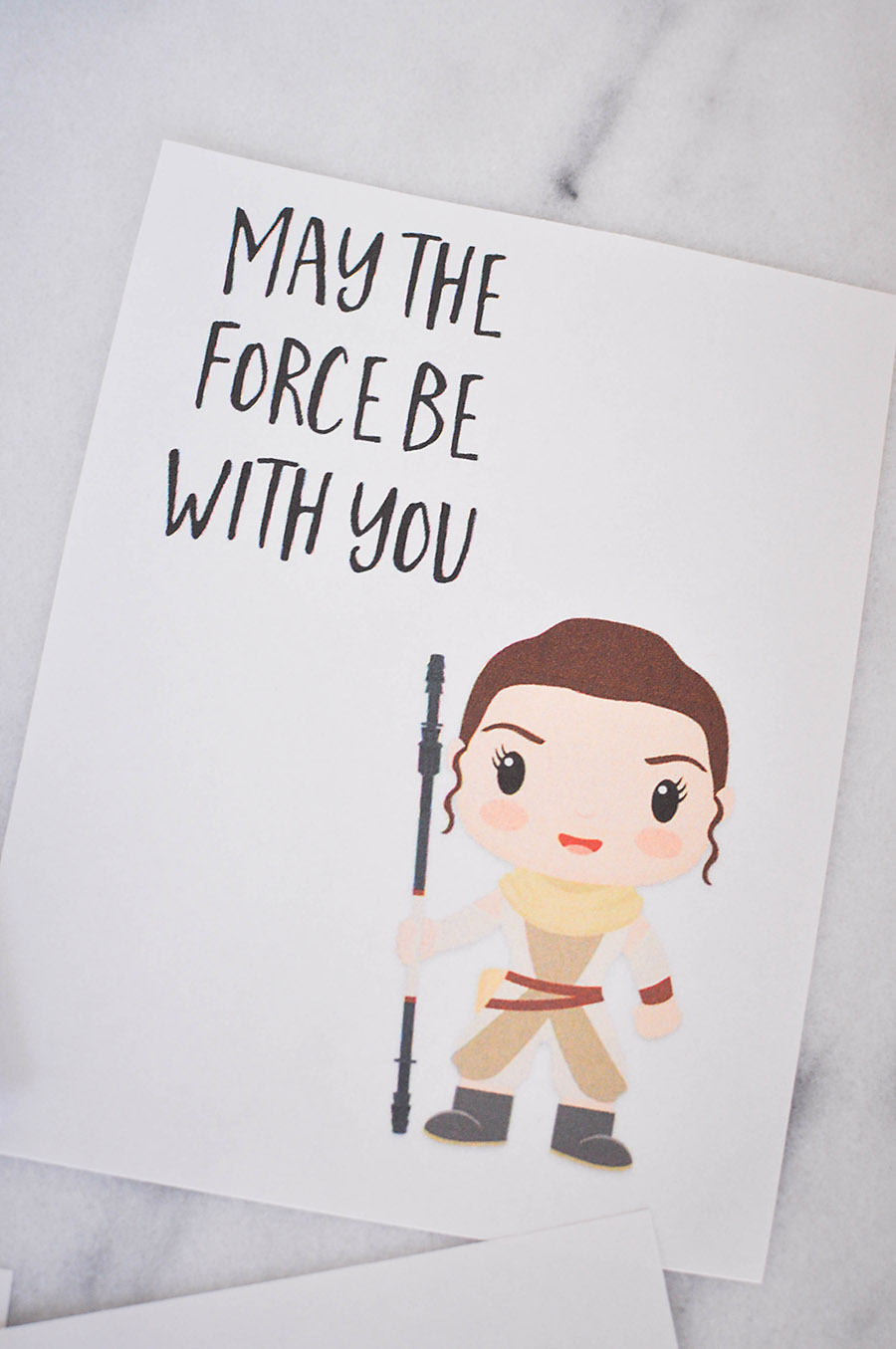 Rey - Star Wars: The Force Awakens Valentines Day Cards   Wit & Wander