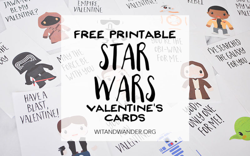 Star Wars: The Force Awakens Valentines Day Cards | Wit & Wander