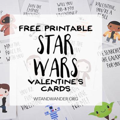 Star Wars Valentines Day Cards | Wit & Wander Part 2