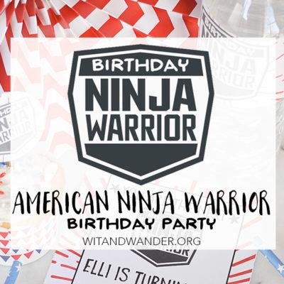 American Ninja Warrior Birthday Party   Wit & Wander