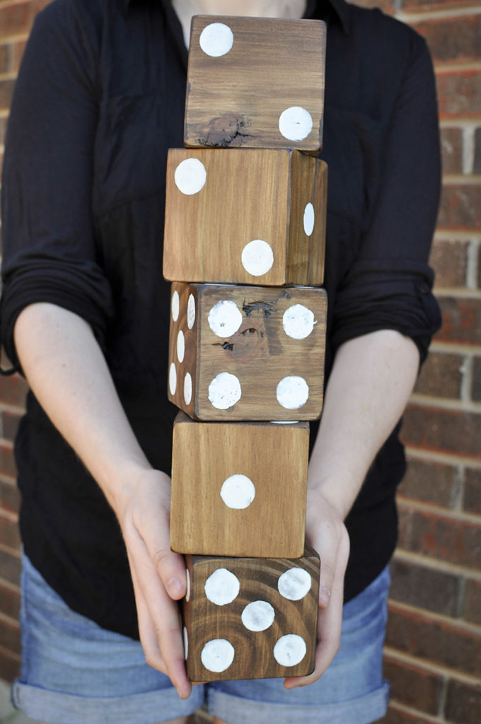 DIY Giant Backyard Dice - Our Handcrafted Life 4