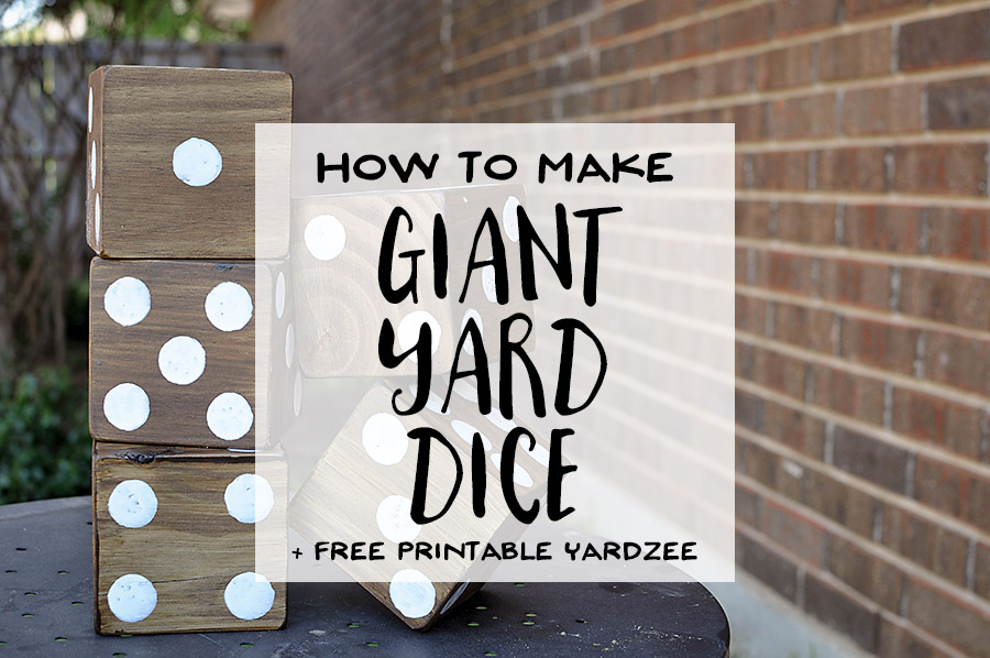 image about Yardzee Score Card Printable Free named How towards Crank out Big Back garden Cube + Totally free Printable Yardzee! - Our