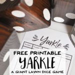 Free Printable Yarkle – A Game for Giant Yard Dice