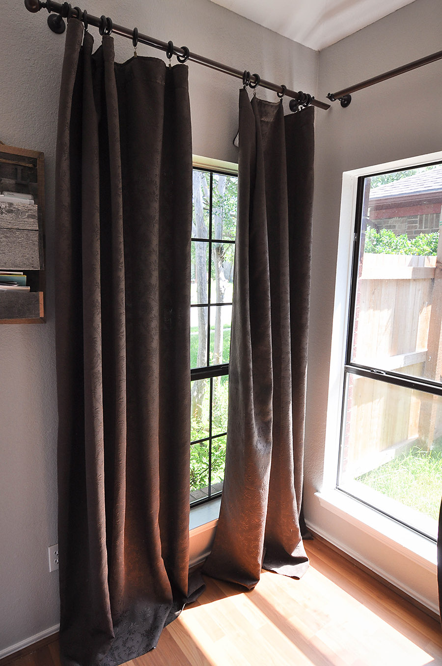 How to Make DIY No-Sew Bleached Drop Cloth Curtains - Our Handcrafted Life