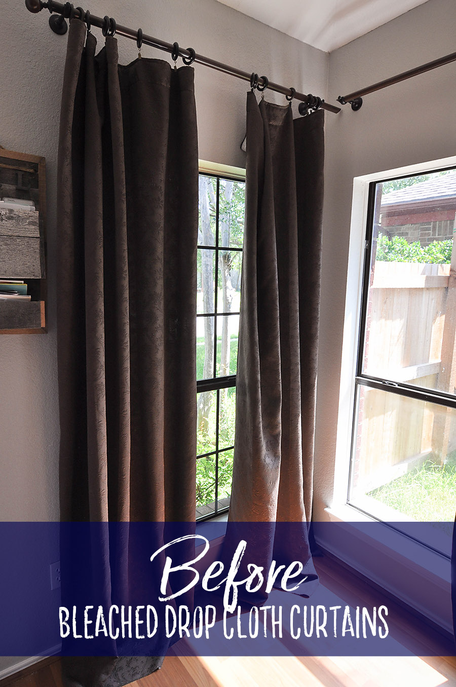 How To Make No Sew Bleached Drop Cloth Curtains Our