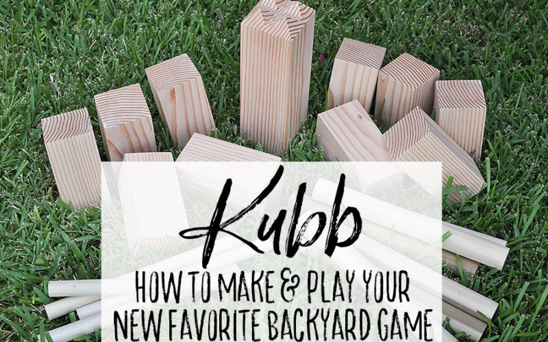 DIY Kubb - Skulls and Crossbones - Our Handcrafted Life Header