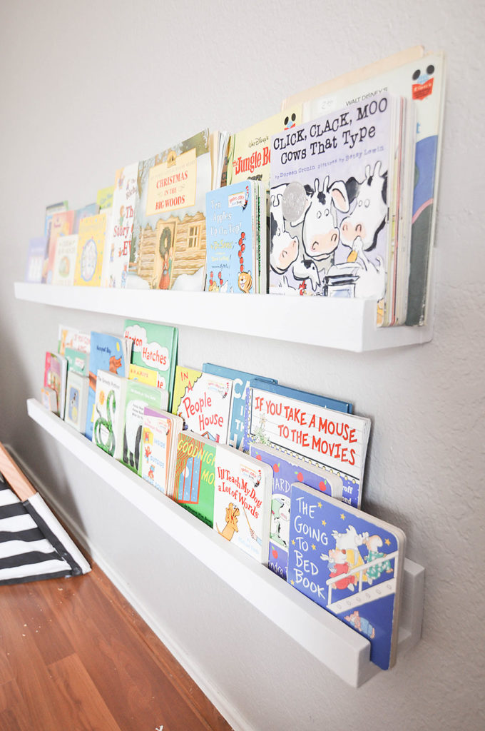 DIY Wall Mounted Kid's Bookshelves - Our Handcrafted Life 12
