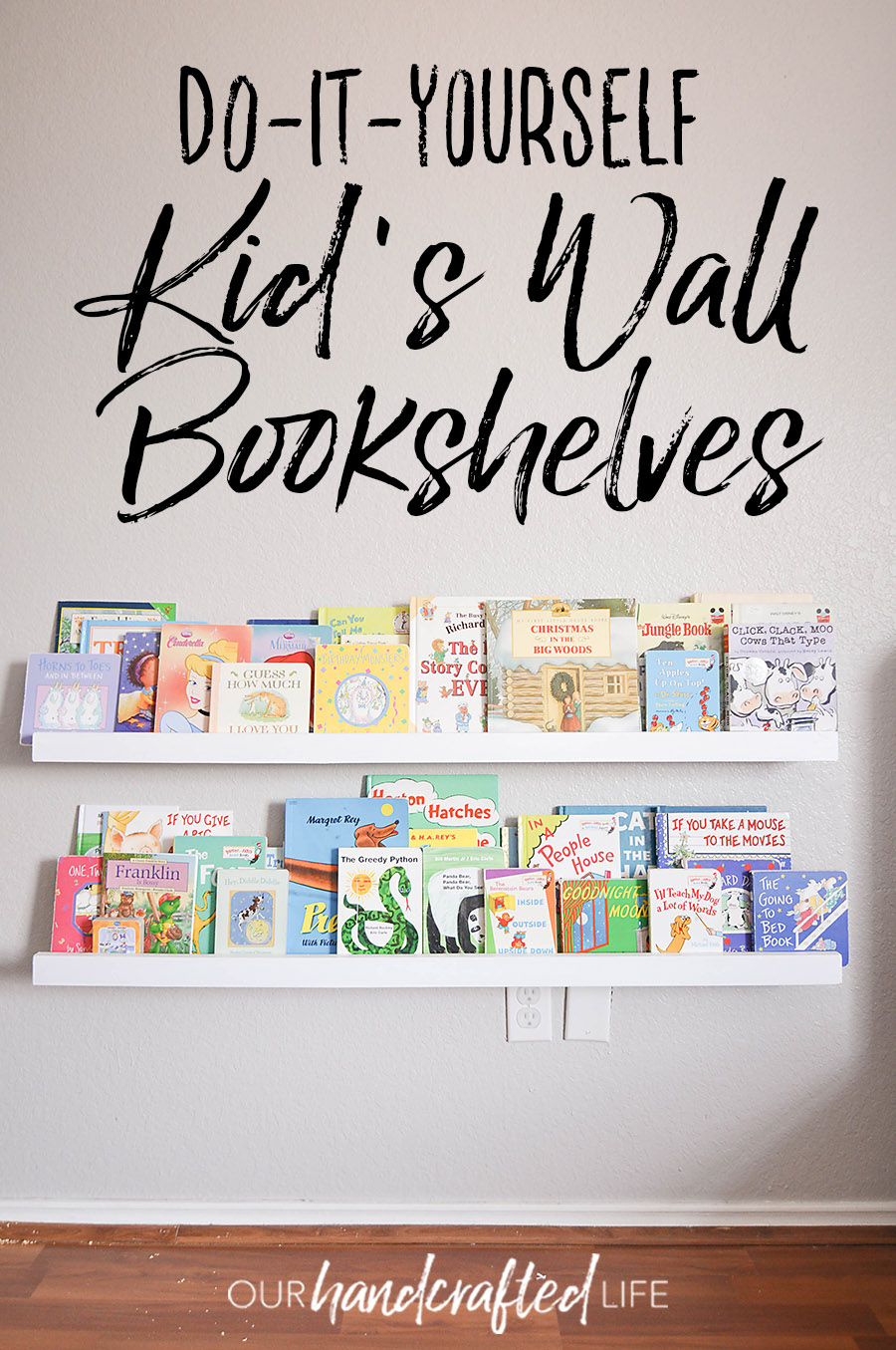 Amazing Diy Wall Mounted Kids Bookshelves Our Handcrafted Life Best Image Libraries Counlowcountryjoecom
