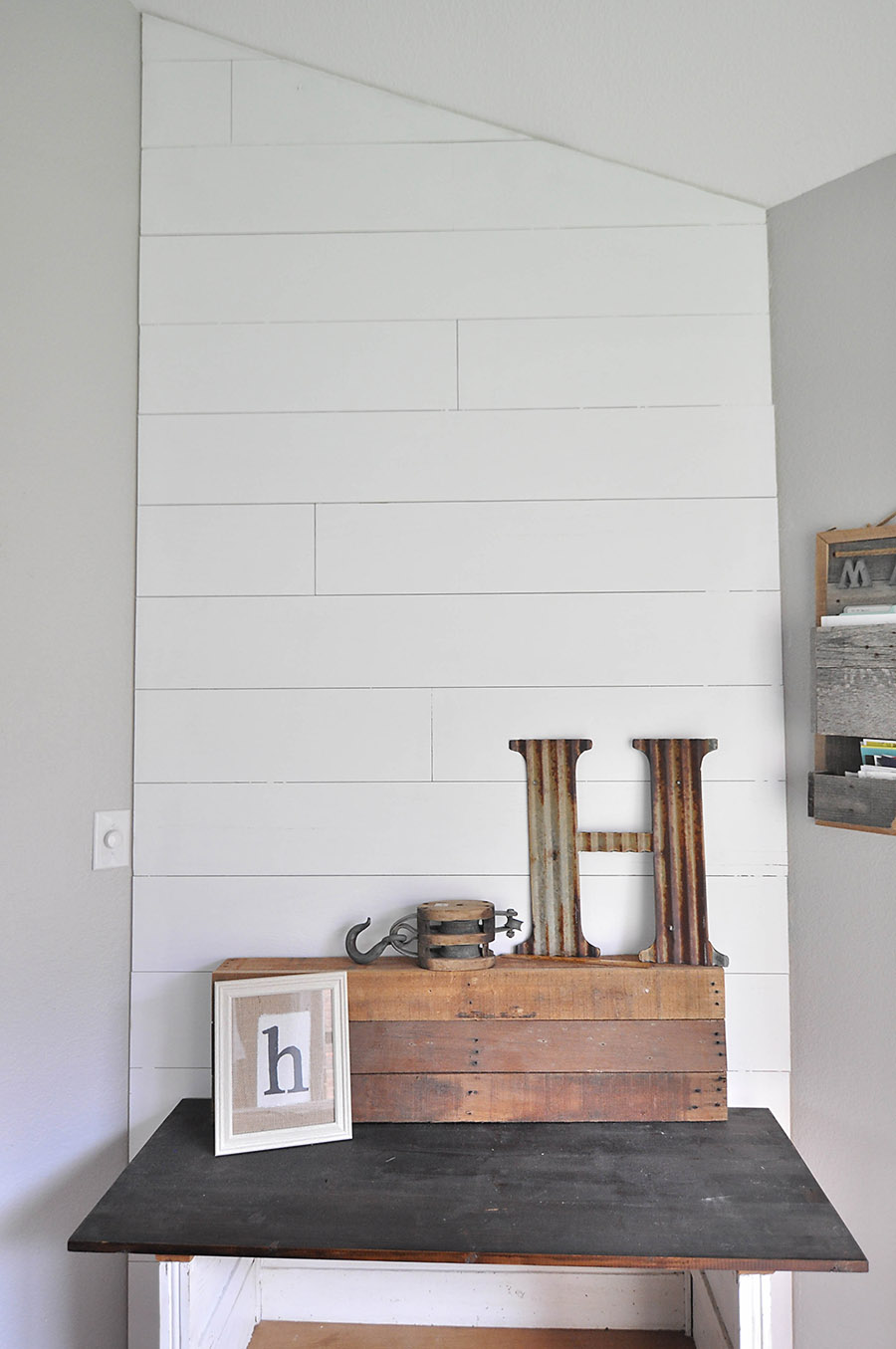 How to Plank an Accent Wall - DIY Shiplap for Less Than ...