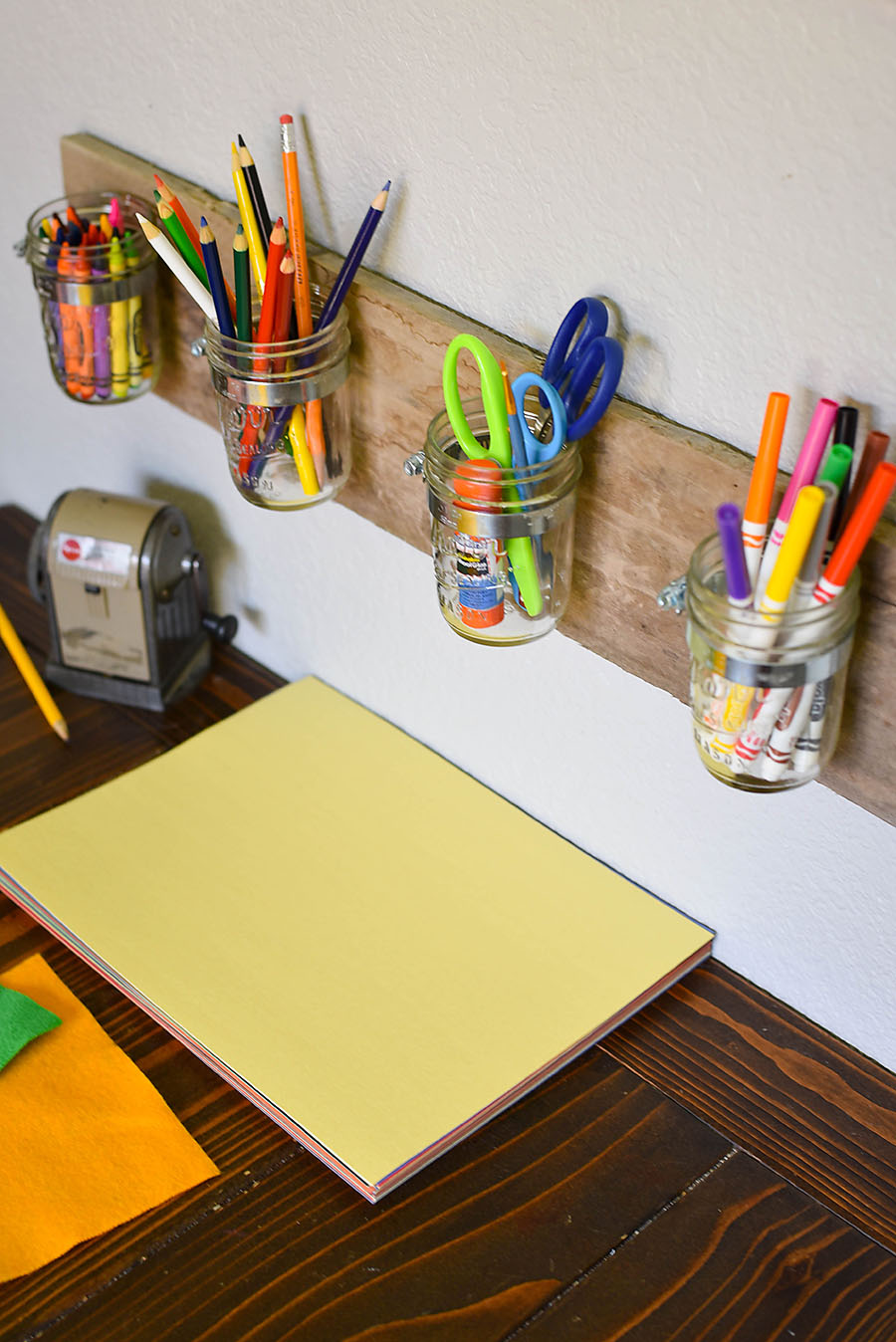 Wall Art Supply Holder : Diy mason jar art supply organizer for kids our