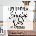 How to Plank an Accent Wall – DIY Shiplap for Less Than $50