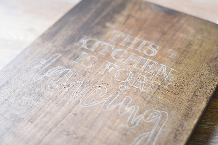 How to Paint a Wood Sign - Kitchen Dancing - Our Handcrafted Life