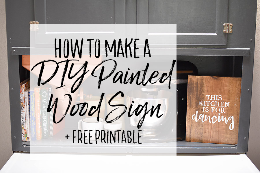 Diy Painted Wood Sign Farmhouse Print Our Handcrafted Life