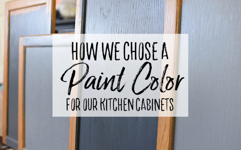 Choosing a Paint Color for the Cabinets