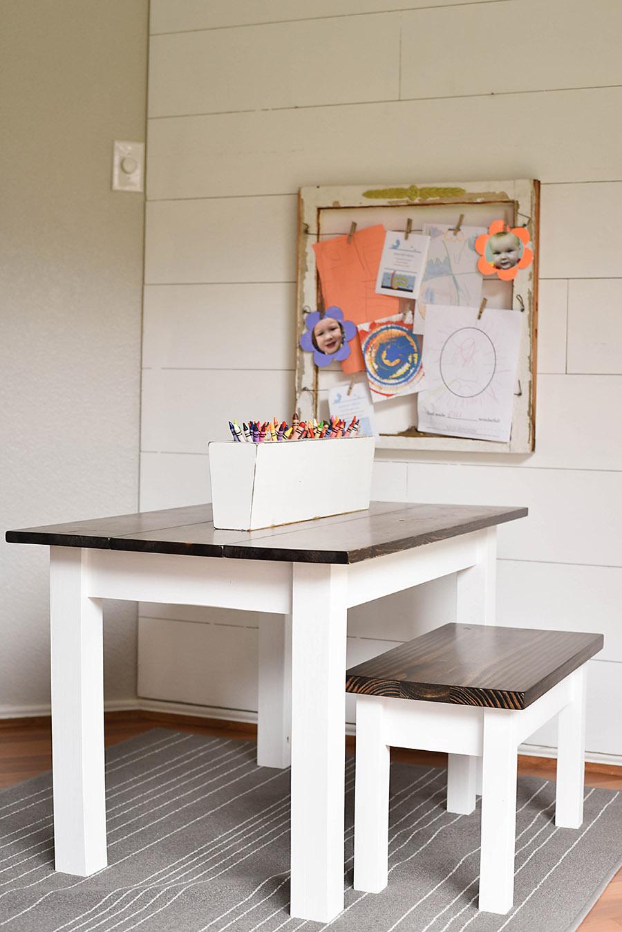 DIY Kidu0027s Farmhouse Table   Our Handcrafted Life