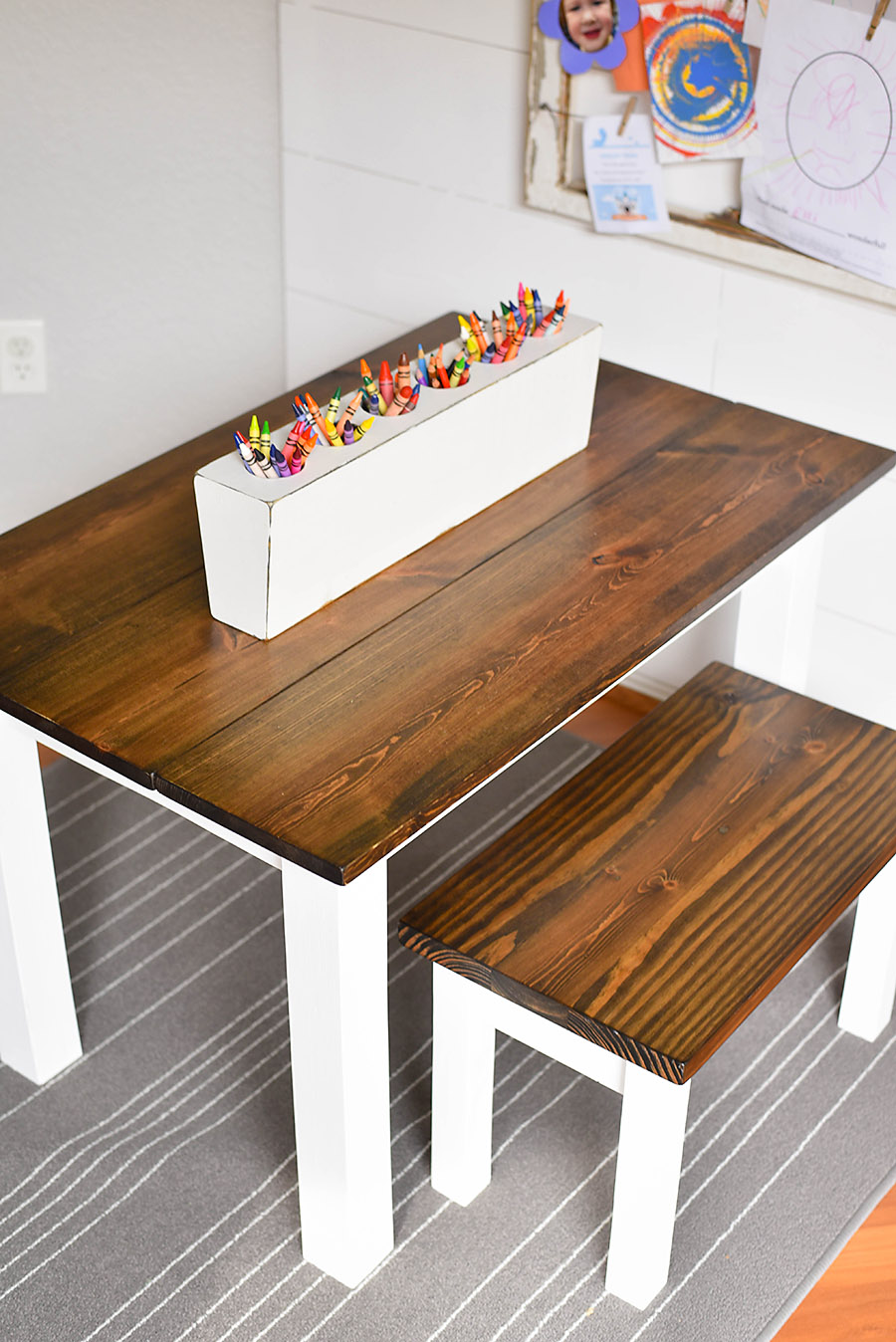 Picture of: How To Make A Diy Farmhouse Kid S Table Our Handcrafted Life